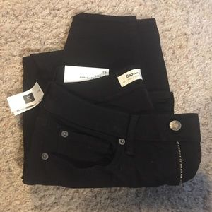 Gap Curvy True Skinny stretch black jeans
